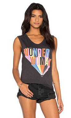Junk Food Wonder Woman Tank in Jet Black