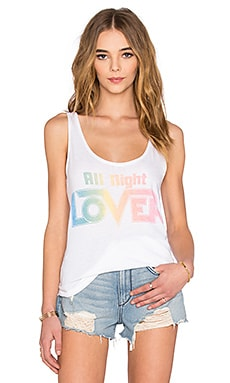 Junk Food All Night Lover Tank in Electric White