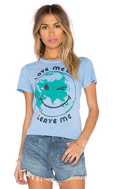 Junk Food Love Me or Leave Me Tee in Cloud