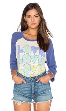 Junk Food Love Tee in Ivory & Signal Blue
