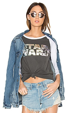 Star Wars Tee in Pepper & Electric White