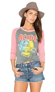 AC/DC Tee in Classic Gray & Faded Rose
