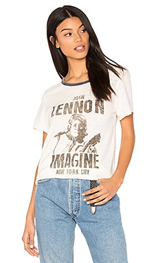 John Lennon Imagine Tee in Tusk & Pepper
