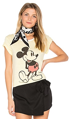 Mickey Mouse Tee in Vintage Yellow & Tusk