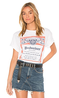 Budweiser Label Tee Junk Food $38 BEST SELLER
