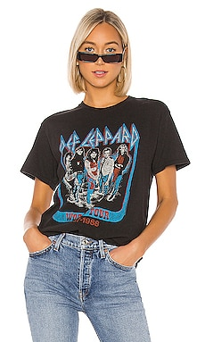 T-SHIRT À BANDE DEF LEPPARD WORLD TOUR Junk Food $40