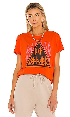 Dep Leppard Flames Tee Junk Food $48
