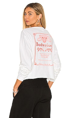 Budweiser Long Sleeve Crew Tee Junk Food $40