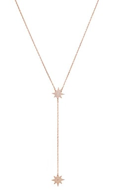 Jennifer Zeuner Gia Mini Lariat Necklace in Rose Vermeil