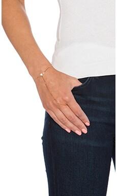 Jennifer Zeuner Victoria Hand Chain in Yellow Vermeil