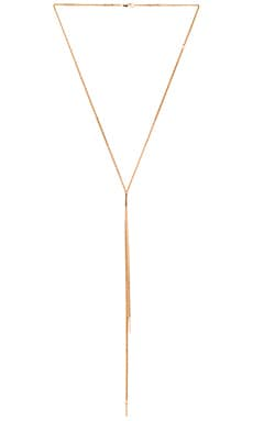 Jennifer Zeuner Aria White Sapphire Necklace in Yellow Vermeil