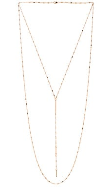 Jennifer Zeuner Bella White Sapphire Necklace in Yellow Vermeil
