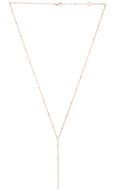 Jennifer Zeuner Bowie Necklace in Rose Vermeil
