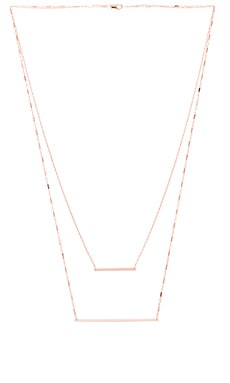 Jennifer Zeuner Diana Necklace in Rose Vermeil