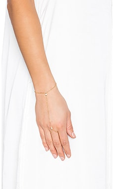 Jennifer Zeuner Monty White Sapphire Handchain in Yellow Vermeil