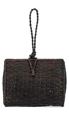 Cuzco Vaulted Straw Wristlet Bag Kaanas $58