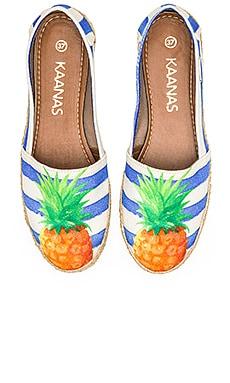 Kaanas Bahamas Espadrille in Pineapple