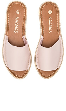 Kaanas Guajira Single Band Sandal in Blush
