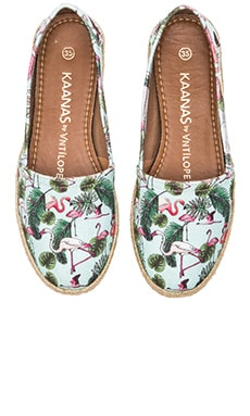 Kaanas Antilope Espadrille in Flamingo