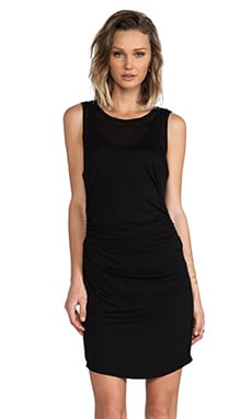 Kain Double Layered Lulu Dress in Black over Black