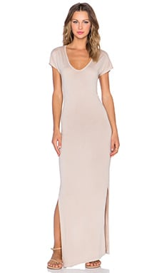 Kain Marlin Dress in Beige Mineral Wash