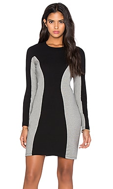 Kain Luna Dress in Black & Granite