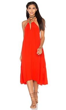 Vita Dress in Hot Coral
