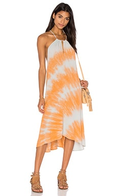 Kain Vita Dress in Circle Dye Orange & Cashmere