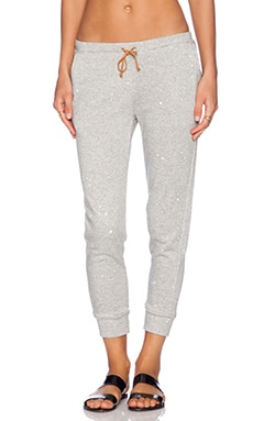 Kain Riley Sweatpant in Heather Grey & White
