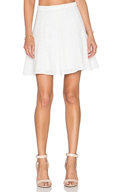 Kain Lucky Daisy Eyelet Skirt in White