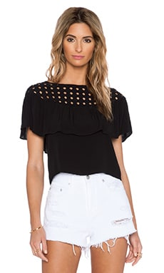 Kain Poppy Top in Black