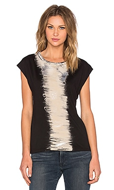 Kain Paola Tee in Distressed Paint Stripe