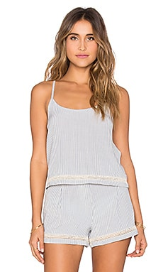 Kain Bahama Tank in Chambray & Cream