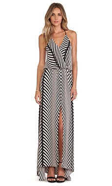 Karina Grimaldi Draco Printed Maxi Dress in Grey Maddison