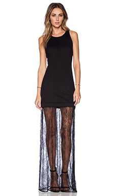 Karina Grimaldi Sofia Lace Dress in Black