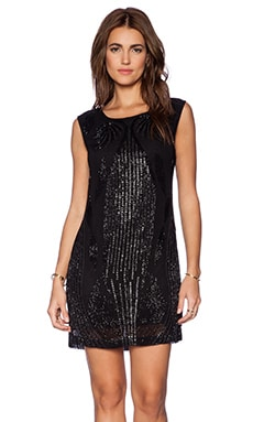 Karina Grimaldi Jamila Sequin Dress in Black