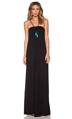 Karina Grimaldi Lotus Maxi Dress in Black