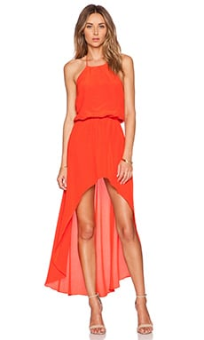 Karina Grimaldi Makeila Maxi Dress in Coral