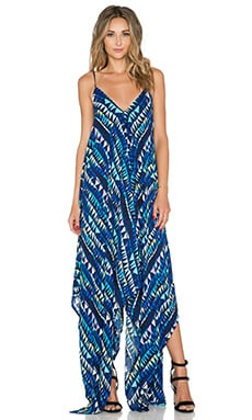 Karina Grimaldi Irene Maxi Dress in Blue Circus