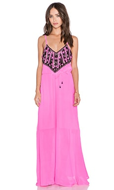 Karina Grimaldi Palmer Beaded Maxi Dress in Neon