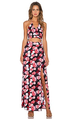 Karina Grimaldi Aubrey Maxi Dress in Rose