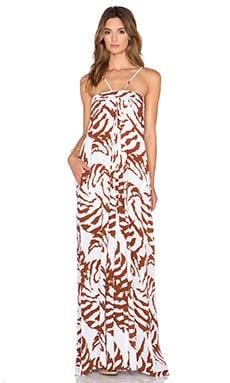 Karina Grimaldi Lotus Maxi Dress in Shell