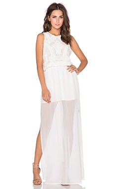 Karina Grimaldi Emma Beaded Maxi Dress in White