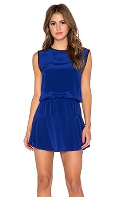 Karina Grimaldi Riley Mini Dress in Blue