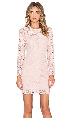 Carla Lace Mini Dress in Blush