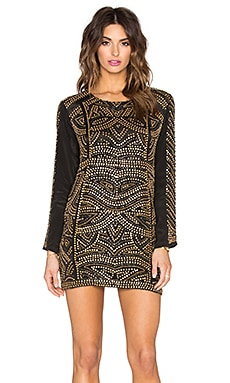 Rock Beaded Dress in Black