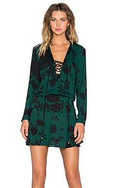 Karina Grimaldi Carol Dress in Green Rose