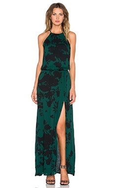 Negra Maxi Dress in Green Rose