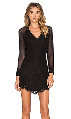 Karina Grimaldi Olivia Lace Dress in Black