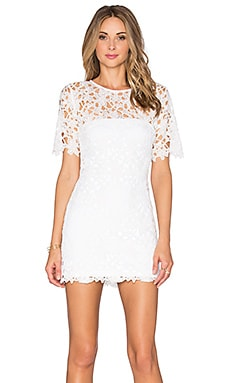 Karina Grimaldi Rudas Lace Mini Dress in White